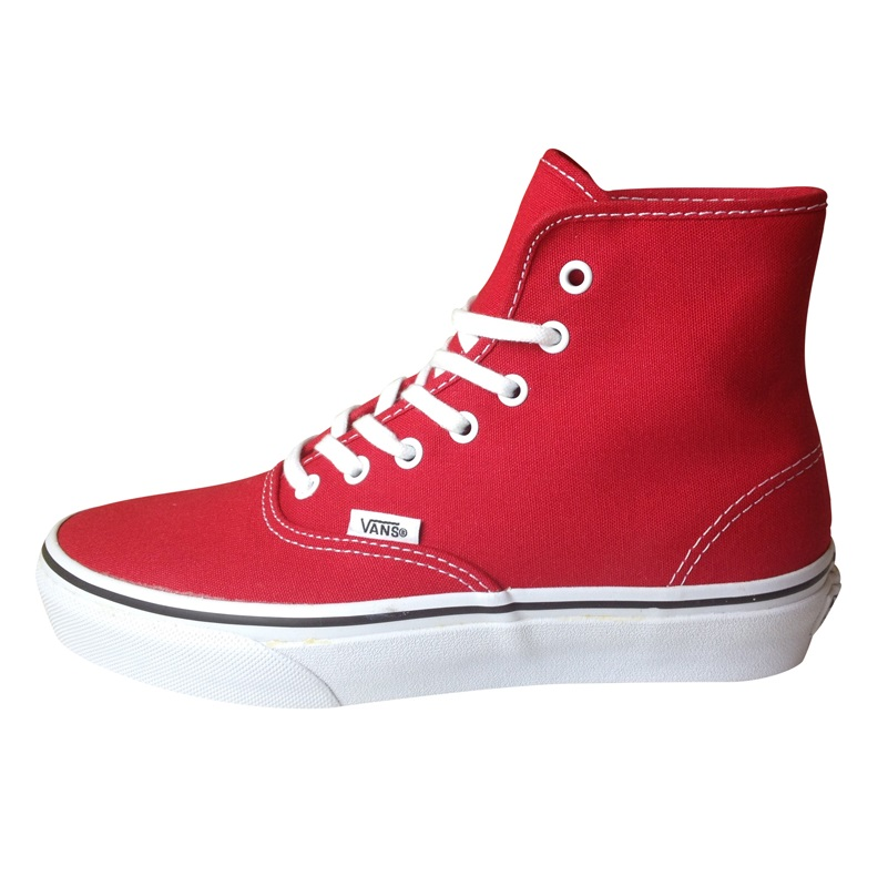 89584db35a Rød Vans Sneakers Authentic Hi True Red - ShoeFactory.dk