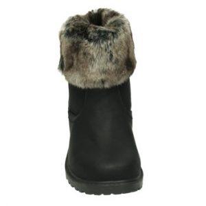c11ce2ca9e9 Sort støvle - Sort vinterstøvle med pels - ShoeFactory.dk